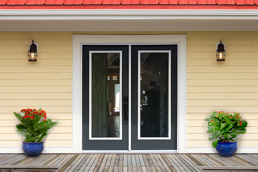 french doors on porch