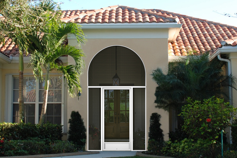 florida front entry enclosure round shaped