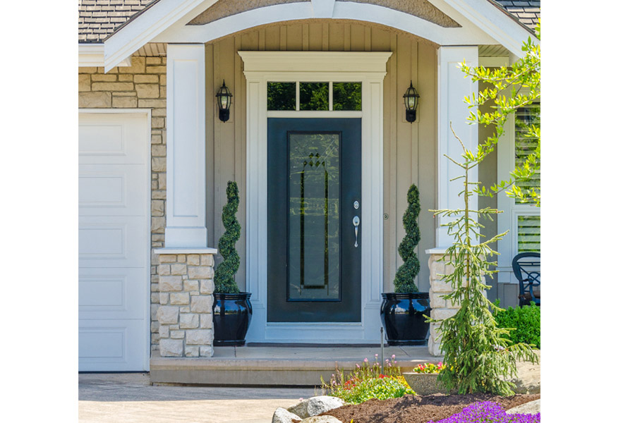 transitional front entry door